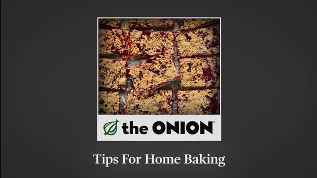 Tips For Home Baking