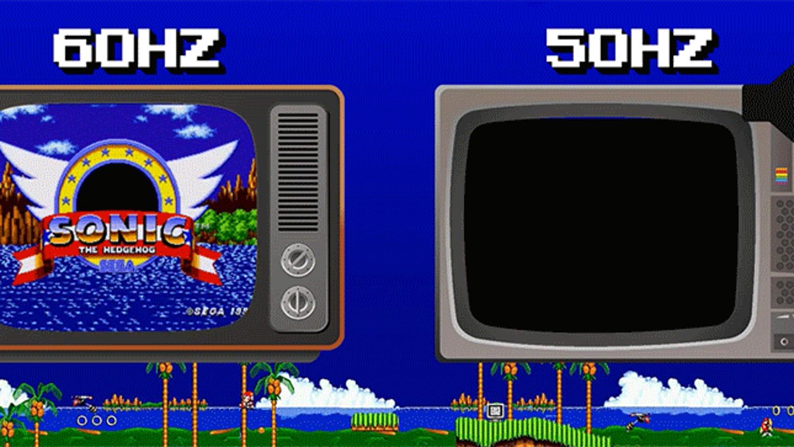 Por qué Sonic corría más rápido en Ámerica que en Europa