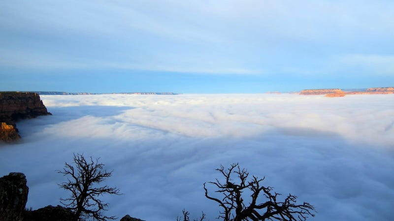 Illustration for article titled The Grand Canyon Is Full Of Clouds Right Now. Why?