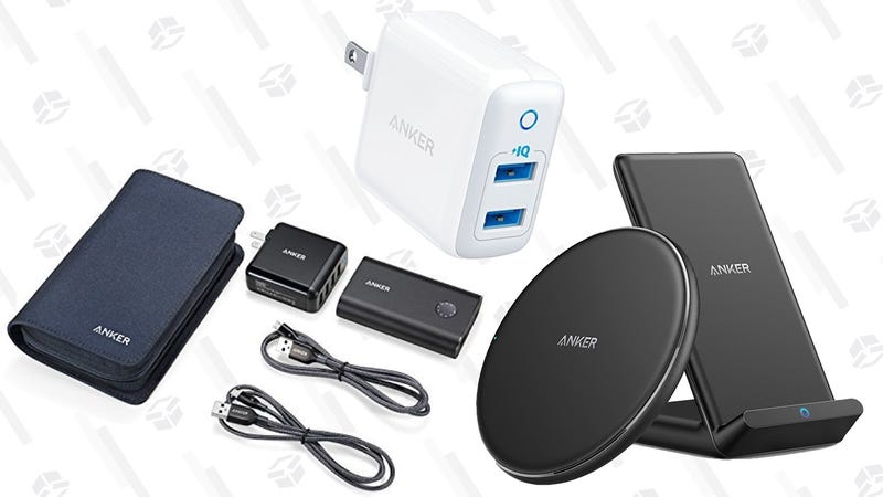 Anker PowerPack   $50   Amazon   Promo code ANKERPP1Anker Qi Pad + Qi Stand + PowerPort 2 Wall Charger   $40   Amazon   Add both to cart and use code COMBOAAA
