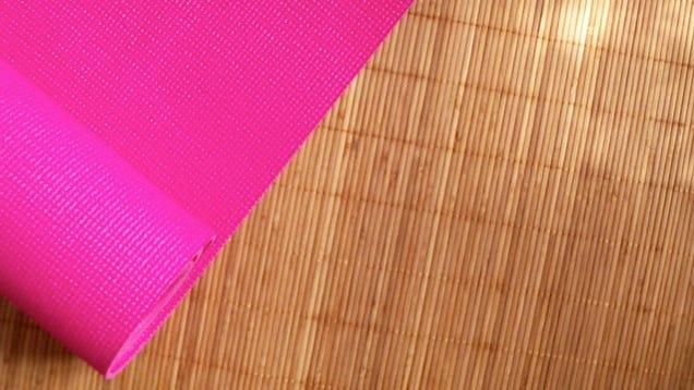 Repurpose An Old Yoga Mat As A Non Slip Rug Pad