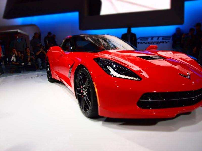 Illustration for article titled Hooray for the return of Oppo! To celebrate, here's a pic of the C7 Corvette I snapped over the weekend at the Chicago Auto Show.