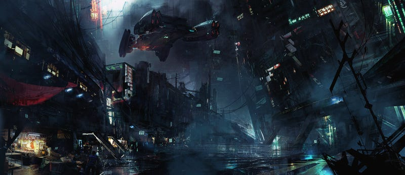 Illustration for article titled Cyberpunk Cityscape In Need Of Urgent Cleaning