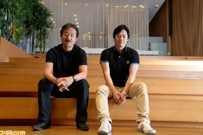 Left: Hironobu Sakaguchi. Right: Hajime Tabata. Photo via Famitsu Magazine