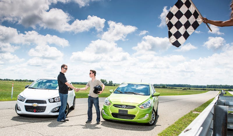Illustration for article titled How I Settled A Ridiculous Bet By Racing A Pair Of Tiny Cars