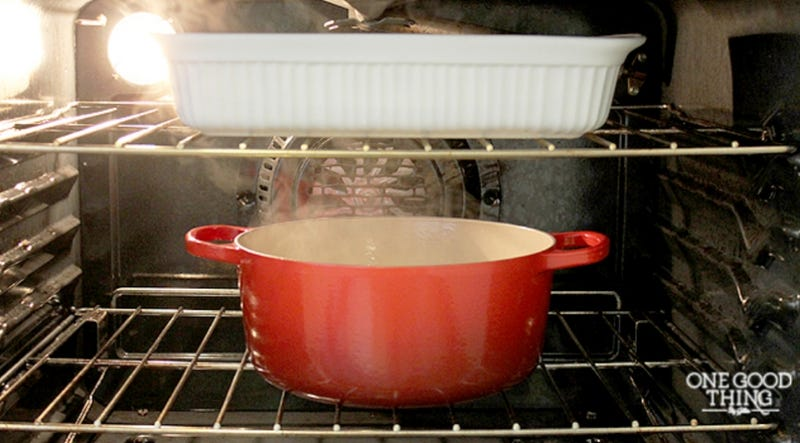 Clean Your Oven With An Overnight Pot Of Water And Ammonia