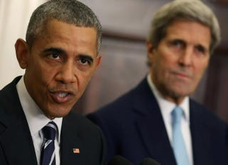 President Barack Obama and U.S. Secretary of State John KerryMark Wilson/Getty Images