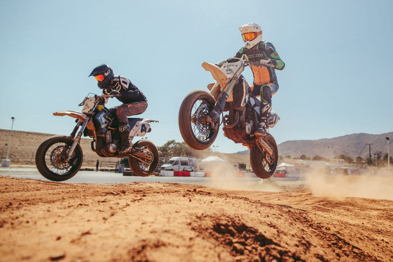 Illustration for article titled Learning The Art of Sliding at Supermoto School
