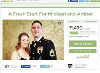 Screenshot from the GoFundMe page by Amber RoofGoFundMe