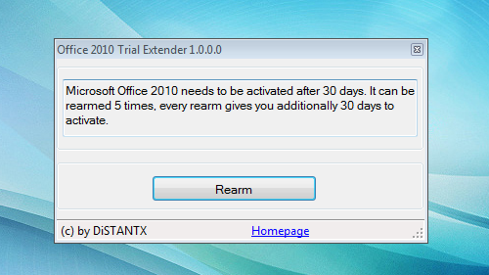 Office 2010 Trial Extender Activates Office 2010 for up to 180 Days