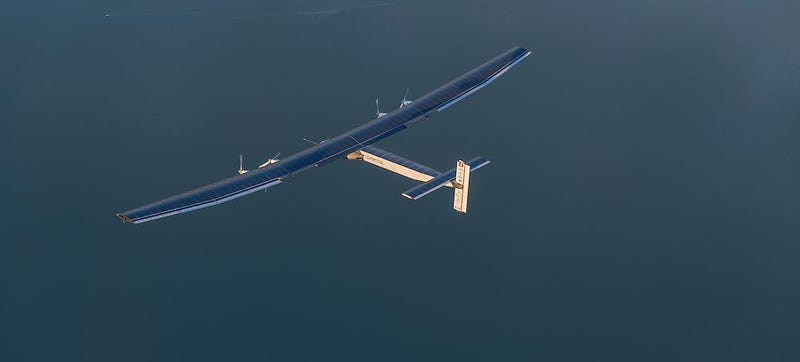 Illustration for article titled Solar Impulse Is Abandoning Its Current Flight Leg Due to Bad Weather