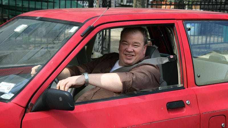 Illustration for article titled Area Man Proud He Can Still Fit Into Car From High School