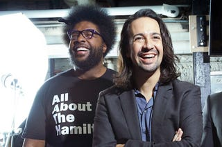 Questlove of the Roots and Lin-Manuel Mirandaokayplayer screenshot