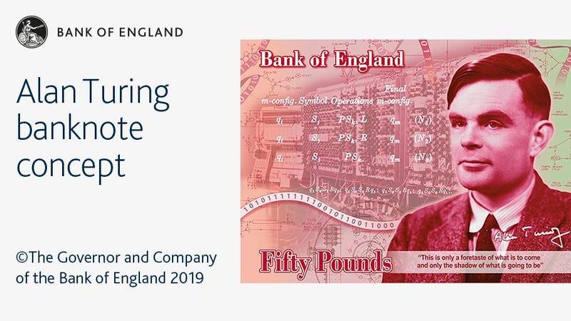El Banco de Inglaterra anuncia que Alan Turing será la cara de los nuevos billetes de 50 libras en Reino Unido