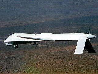 Illustration for article titled Unmanned Military Drone Briefly Grasps Senselessness Of War