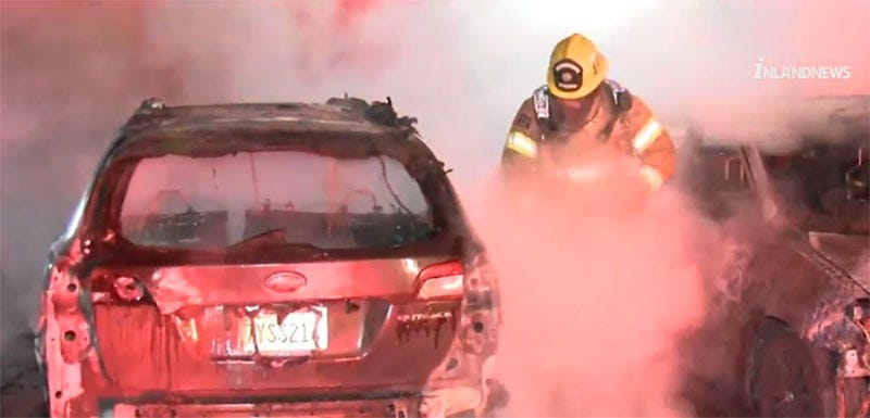 Suspected Arsonist Destroys Seven Cars During Anime Con