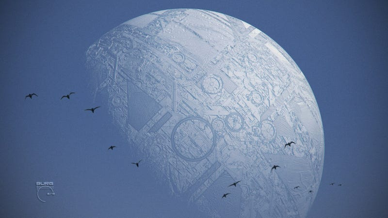 Illustration for article titled In the days when human-made structures cover the moon