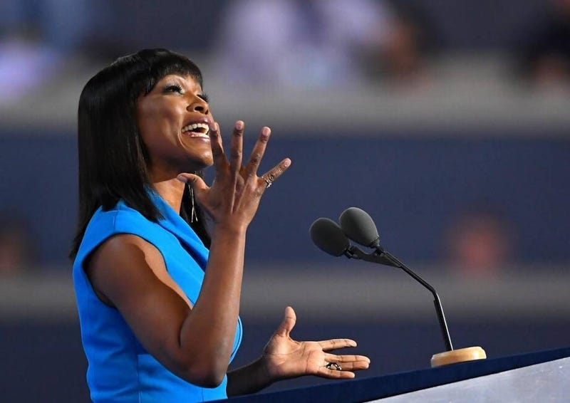 Angela Bassett speaking at the Democratic National Convention on July 27, 2016, in PhiladelphiaGetty Images