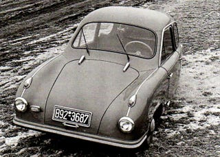 Illustration for article titled Microcar Monday: Pinguin - The Miniature Porsche That Couldn't