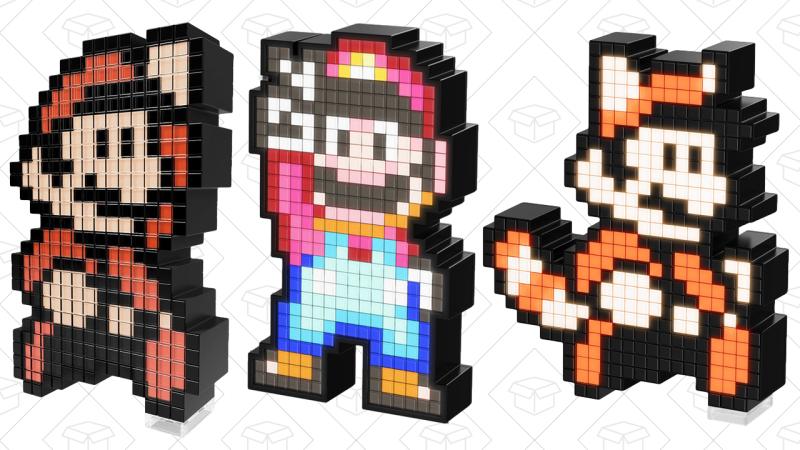 Super Mario Bros 3 Pixel Pal, $12   Super Mario World Pixel Pal, $12   Raccoon Mario Pixel Pal, $12