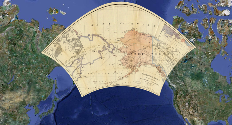 Illustration for article titled Old Maps Layered on Google Maps: Where Were You in High School Geography?