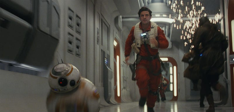 BB-8 almost didn't get to spend time with Poe in The Last Jedi. All Images: Disney