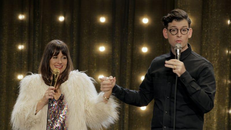 Natasha Leggero (left) and Moshe Kasher