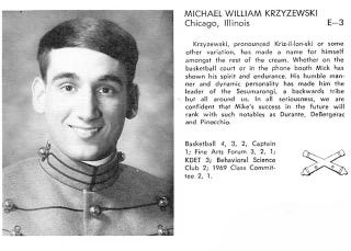 Illustration for article titled Coach K's Goofy West Point Yearbook Photo From 1969