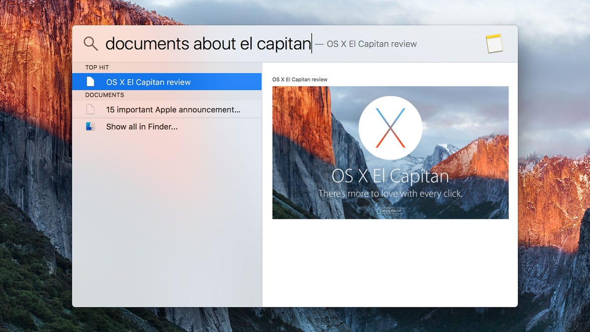 Hands-On With Apple's OS X El Capitan: Tiny Tweaks Make a