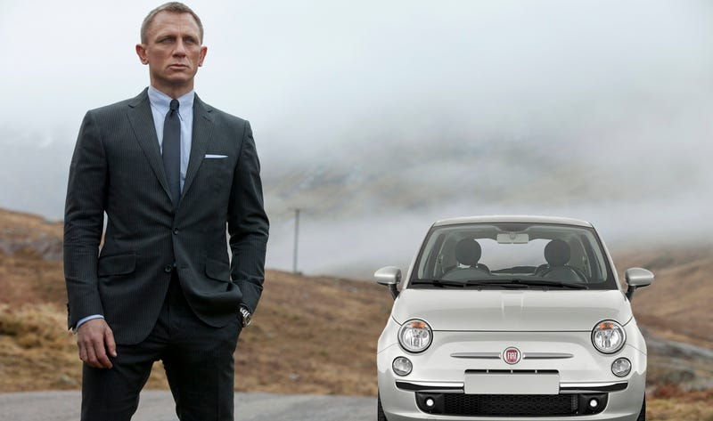 Illustration for article titled James Bond Will Drive A Fiat 500 And Everyone Is Freaking Out