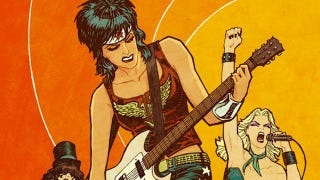 Illustration for article titled DC superheroines rock out as the Runaways