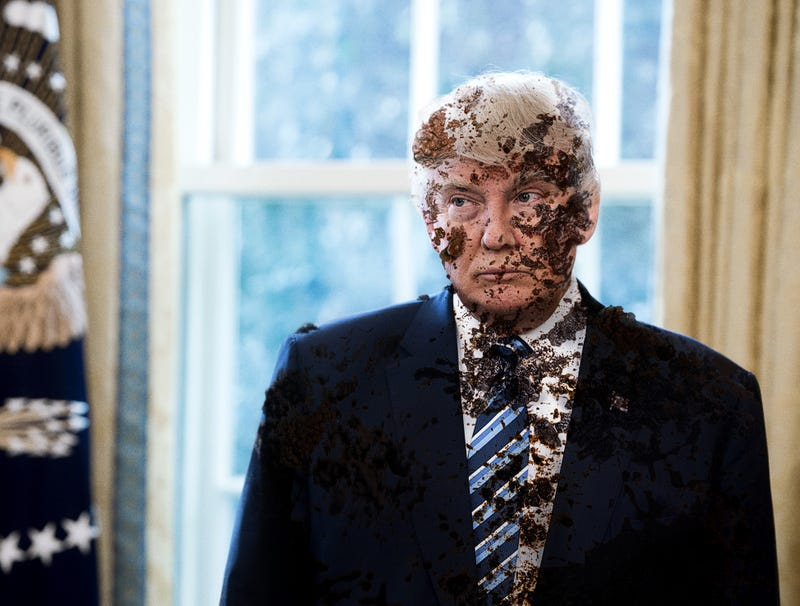 Illustration for article titled Trump Covered In Own Shit After Furloughed White House Staff Fail To Bathe President
