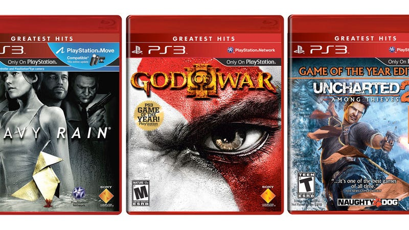 Illustration for article titled God of War III, Uncharted 2 & Heavy Rain Are Now 'Greatest Hits'