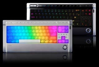 Illustration for article titled Luxeed is Rainbow LED Keyboard for Hippies, Those Who Can't Afford an Optimus