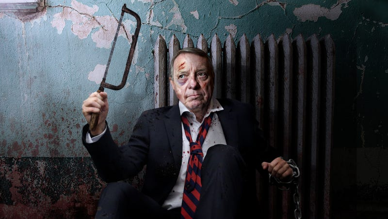 Illustration for article titled Dick Durbin Wakes Up Chained To Radiator With Instructions To Saw Open Own Stomach To Access Kavanaugh Report