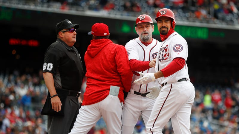 Illustration for article titled Anthony Rendon Lays Into Umpire Marty Foster For Erratic Strike Zone And Quick Temper