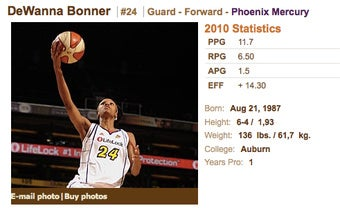 Illustration for article titled WNBA Player Has Funny Name When Pronounced Incorrectly