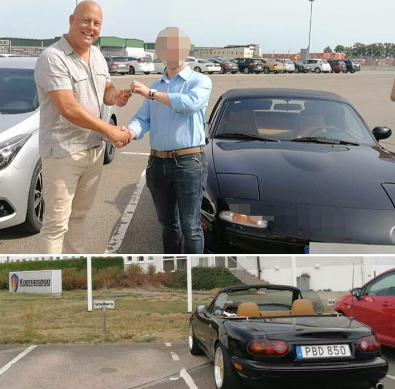Illustration for article titled Koenigsegg bought back his miata.