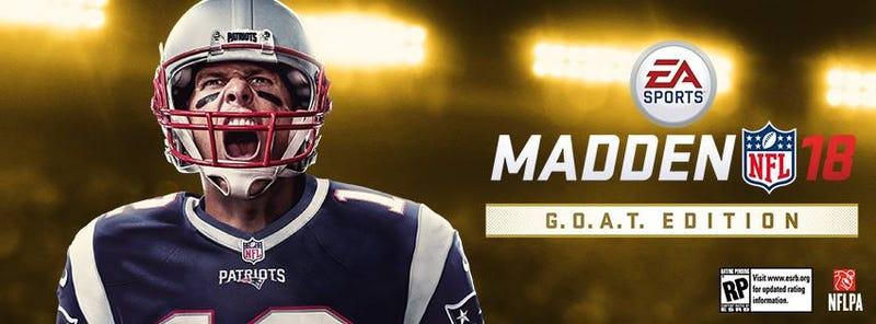 Illustration for article titled Tom Brady Is On Madden 18's Cover And Life Is Hell