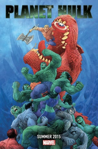 Illustration for article titled Marvel's Next Comic Event Is A Completely Insane Planet Hulk