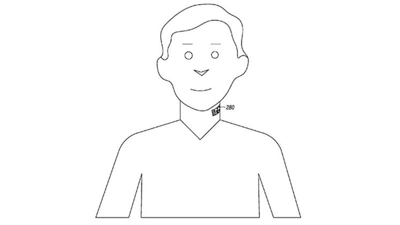 Illustration for article titled Motorola Wants to Patent a Neck Tattoo That's Also a Microphone
