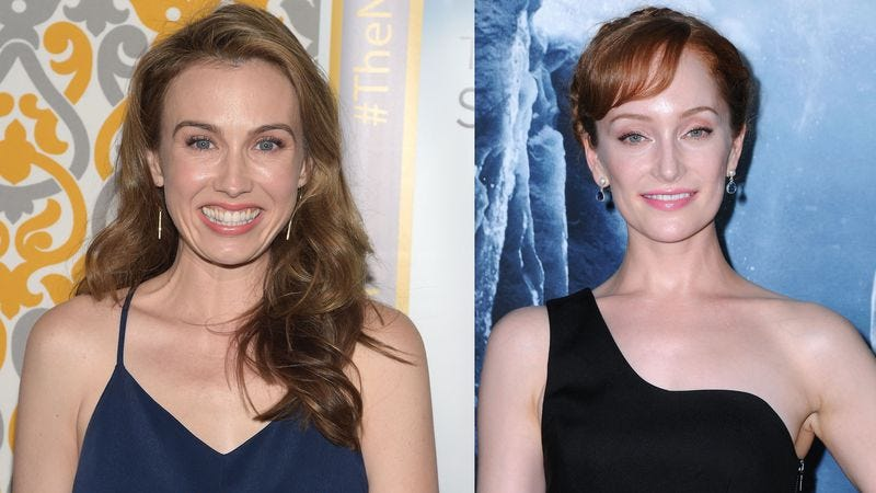 Wynn Everett and Lotte Verbeek. Photo credit: Getty Images