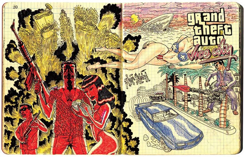 Illustration for article titled Vice City: The High School Sketchbook