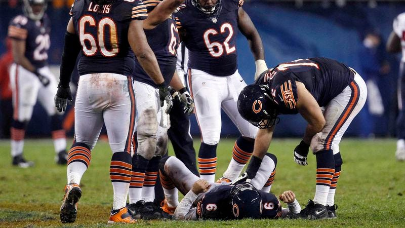 Illustration for article titled Bears Trainers Worried Concussed Jay Cutler May Never Sulk Again