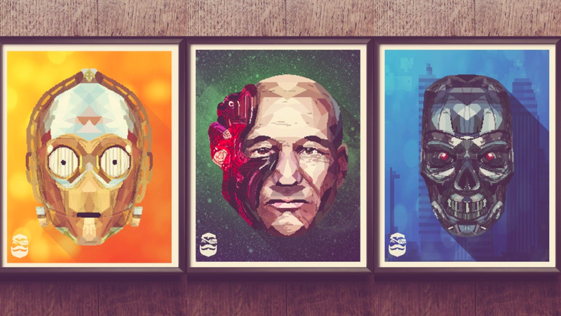 Illustration for article titled You'll Want to Put These Fractured and Pixelated Character Posters on All Your Walls