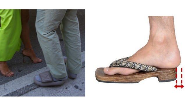1dbd70b48 Kanye Was Wearing His Tiny Slides  the Japanese Way