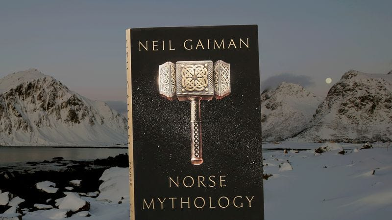 Neil Gaiman picks up Thor's hammer in Norse Mythology