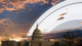 Illustration for article titled What Life on Earth Would Look Like If Earth Had Rings Like Saturn