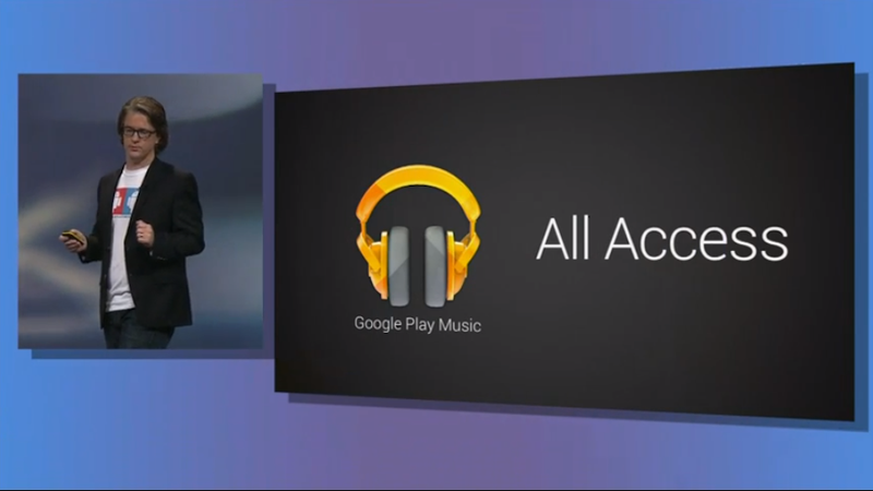 Illustration for article titled Google Unveils Play Music All Access, a Subscription Music Service