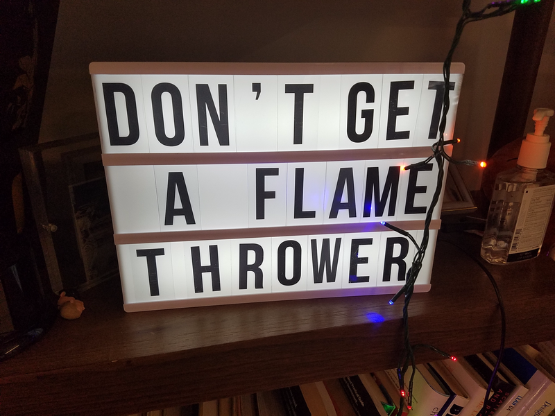 Illustration for article titled DON'T GET A FLAME THROWER